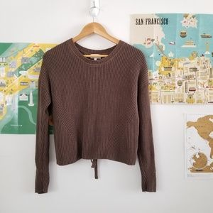 lucky brand • back lace pullover sweater • I012